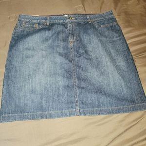 L.L.Bean Denim Skirt Plus Size